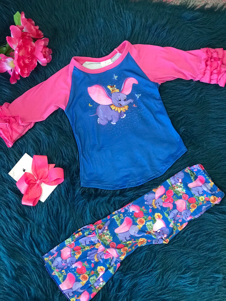 New Fall Its All About Dumbo Bell Pant Set - JEN'S KIDS BOUTIQUE