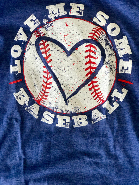 Fall Stone Blue Baseball  Women's Shirt - JEN'S KIDS BOUTIQUE