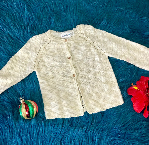 New Fall Gold Sparkle Fun Sweater - JEN'S KIDS BOUTIQUE