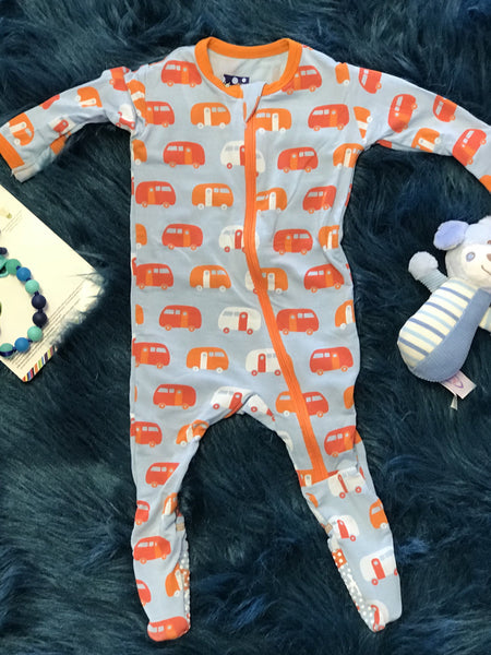 2018 Spring One Kickee Pants Pond Camper Coverall With Zipper - JEN'S KIDS BOUTIQUE