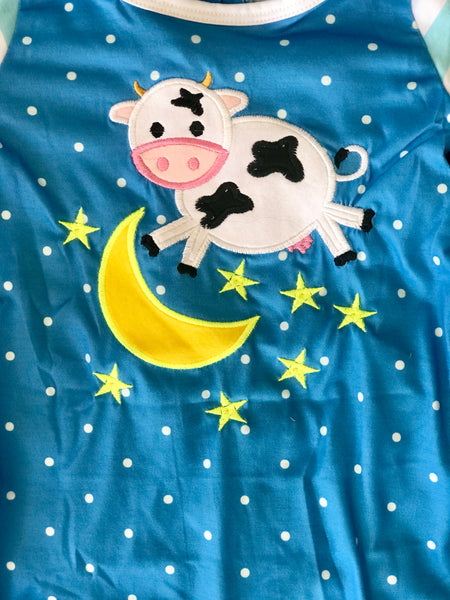 2018 Fall Cow Jumped Over the Moon Infant Romper - JEN'S KIDS BOUTIQUE