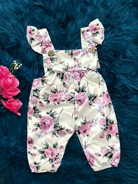 Summer Infant Baby Girl Strap Flower Romper Jumpsuit Outfit Sleeveless Sunsuit Pre Order - JEN'S KIDS BOUTIQUE