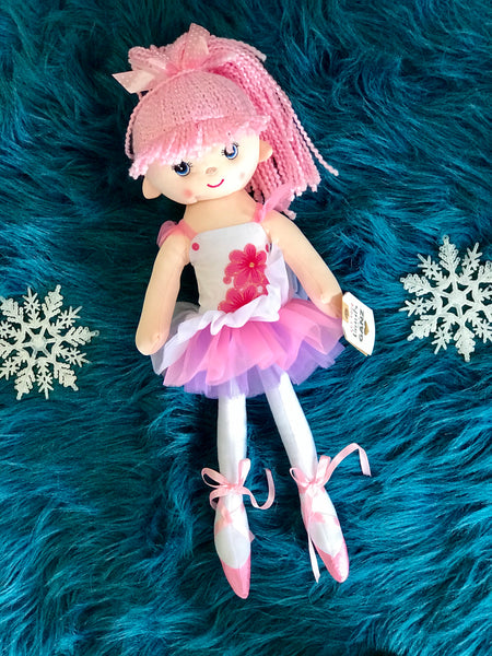Adorable 17 Inch Pink Ballet Doll - JEN'S KIDS BOUTIQUE