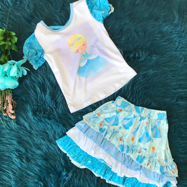 Character Fun Cinderella Skirt Set - JEN'S KIDS BOUTIQUE