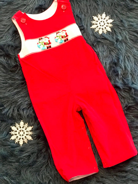 Zuccini Christmas Reversible Boy Long All Romper - JEN'S KIDS BOUTIQUE