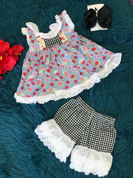 Summer Fun Mixed Floral Shorts Set - JEN'S KIDS BOUTIQUE