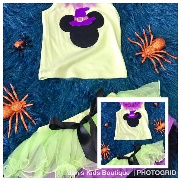 Fall Halloween Mickey Tutu Set