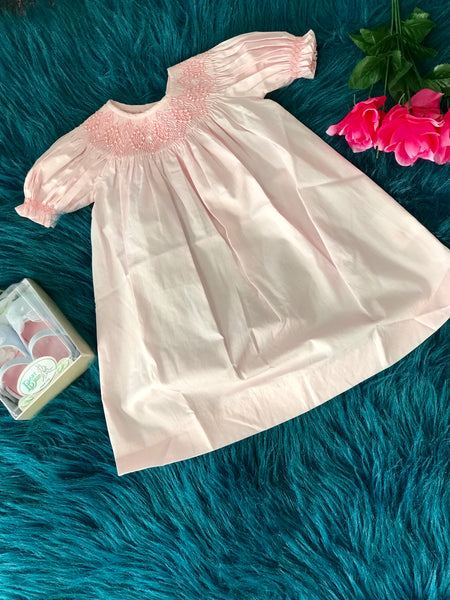 2019 Spring & Summer Love Me Infant Pink Pearl Infant Dress - JEN'S KIDS BOUTIQUE