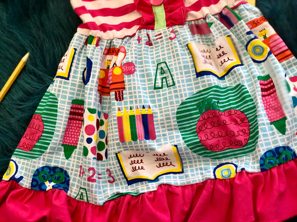 Fall Back To School Fun Design Stripped With Stripped Capri Shorts Set - JEN'S KIDS BOUTIQUE