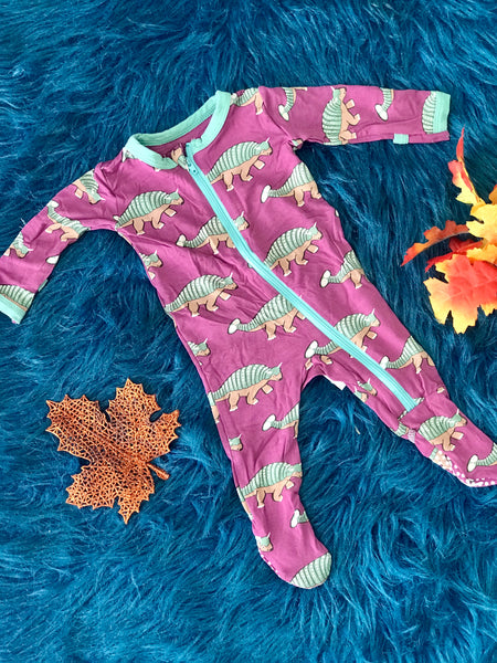 New Fall Kickee Pants Zipper Footie (Euoplacephalus) - JEN'S KIDS BOUTIQUE