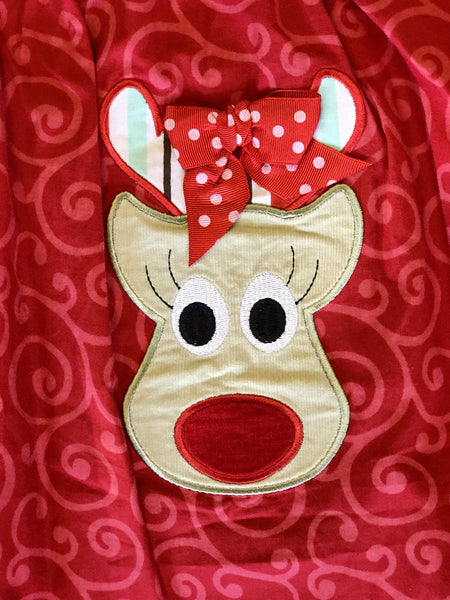 Banana Split Rocking Reindeer Dress CH - JEN'S KIDS BOUTIQUE