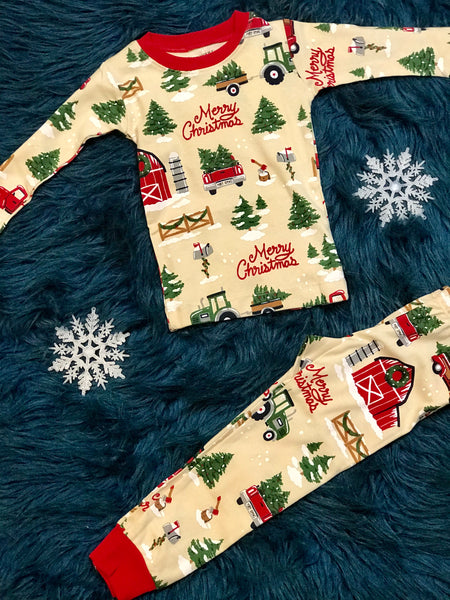 2018 Country Christmas Children's Pajamas Unisex - JEN'S KIDS BOUTIQUE