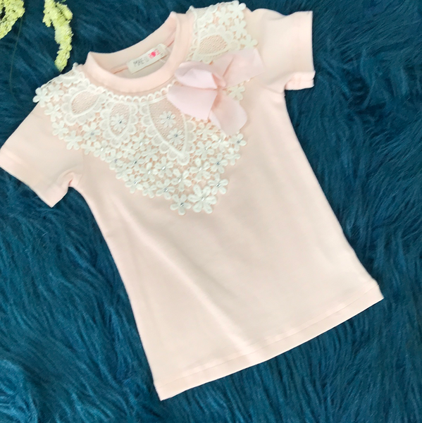 MAELI ROSE Spring Pointed Crochet Top with Ruffles - JEN'S KIDS BOUTIQUE