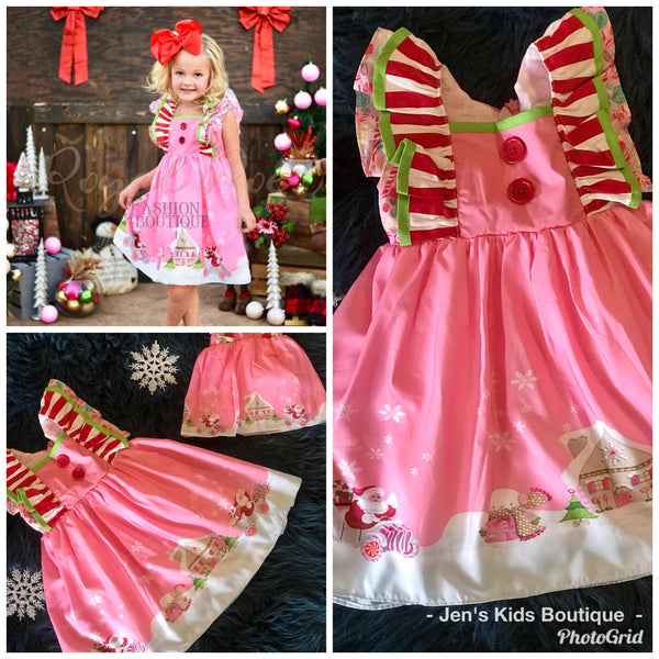 2018 Perfect Christmas In Pink Princess Mary Kate Sleeveless Dress - JEN'S KIDS BOUTIQUE