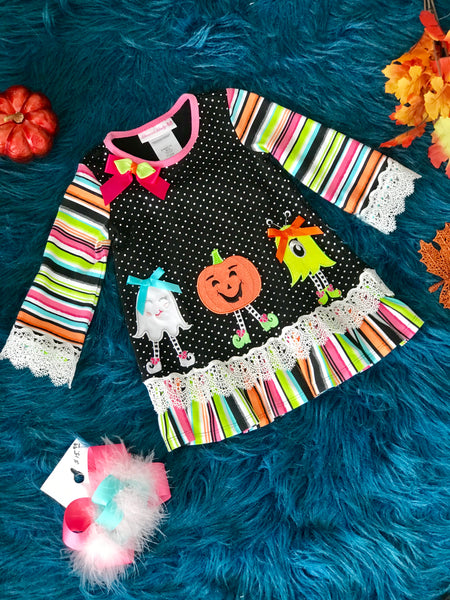 New Fall Boo Friends Halloween Dress - JEN'S KIDS BOUTIQUE