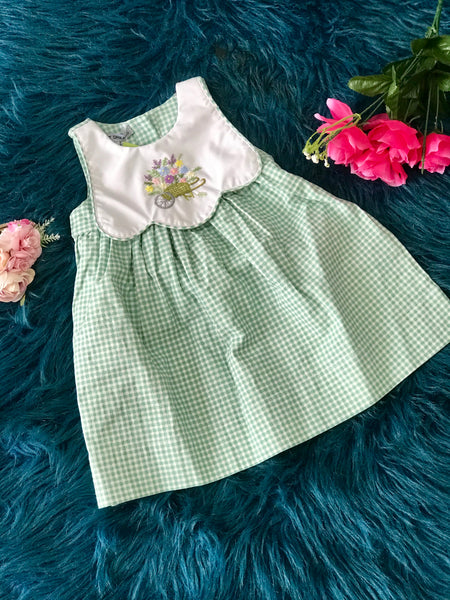 2019 Spring & Summer Girls Dress With A Flower Basket. - JEN'S KIDS BOUTIQUE