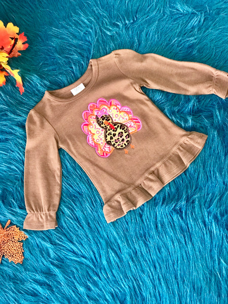 Jens Turkey Brown Shirt - JEN'S KIDS BOUTIQUE