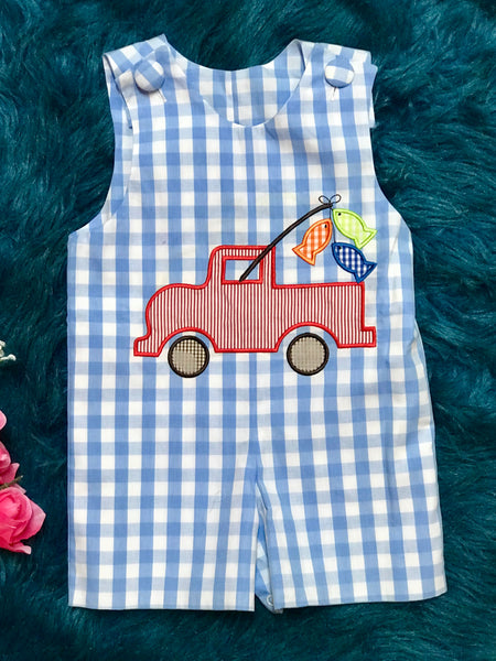 Three Sisters Boys Gone Fishing  Truck Jon Jon - JEN'S KIDS BOUTIQUE