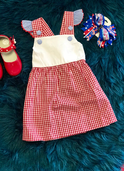 2018 Adorable Red Plaid Summer Fun Dress - JEN'S KIDS BOUTIQUE
