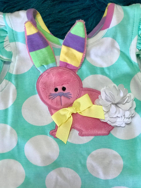 Molly & Millie Polka Dot Easter Some Bunny Loves You Tunic C - JEN'S KIDS BOUTIQUE