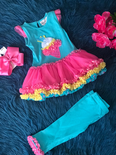 Summer Rare Ice Cream Tutu Set C - JEN'S KIDS BOUTIQUE