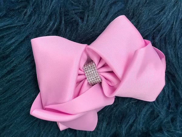 Large Lavender Sparkle Clip Hair Bow - JEN'S KIDS BOUTIQUE