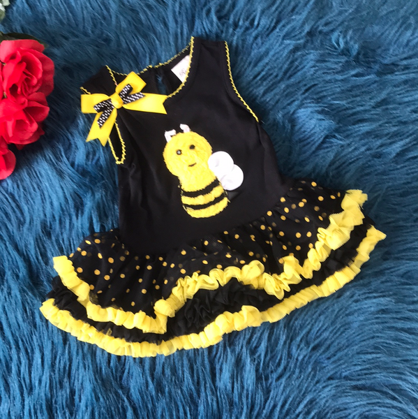 Rare Editions Bee Tutu Dress S - JEN'S KIDS BOUTIQUE