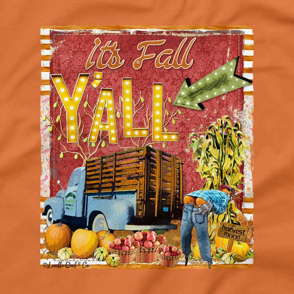 2018 Women's It's Fall Yall On Burnt Orange - JEN'S KIDS BOUTIQUE