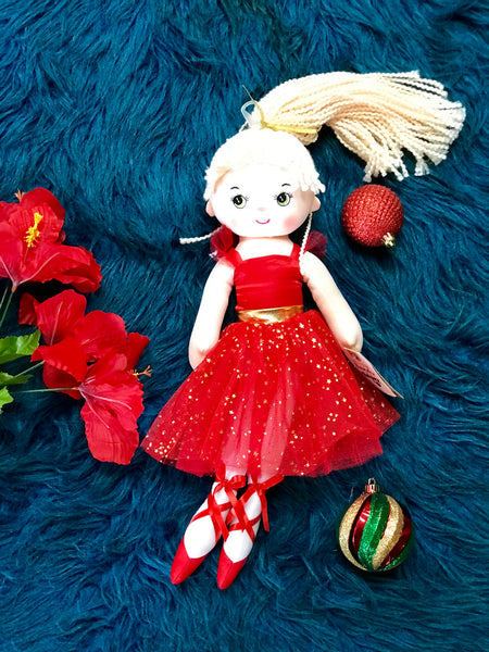 "New 16"" Beautiful Holiday Ballerina Doll - JEN'S KIDS BOUTIQUE"
