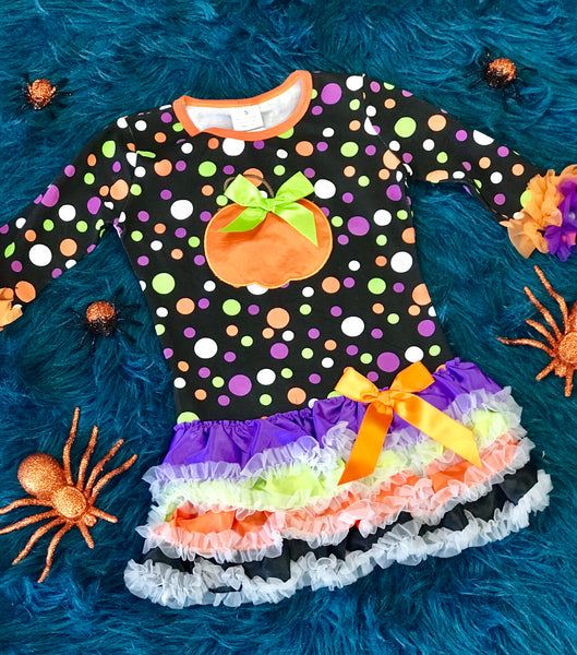 Fall Colorful Pumpkin Tutu Dress - JEN'S KIDS BOUTIQUE
