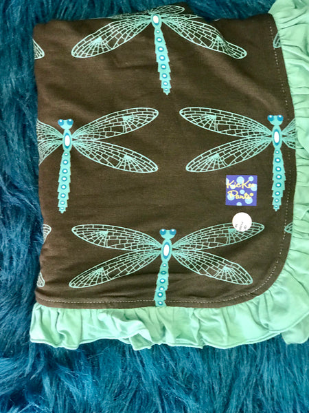 New Fall Kickee Pants Dragonfly Ruffle Stroller Blanket - JEN'S KIDS BOUTIQUE
