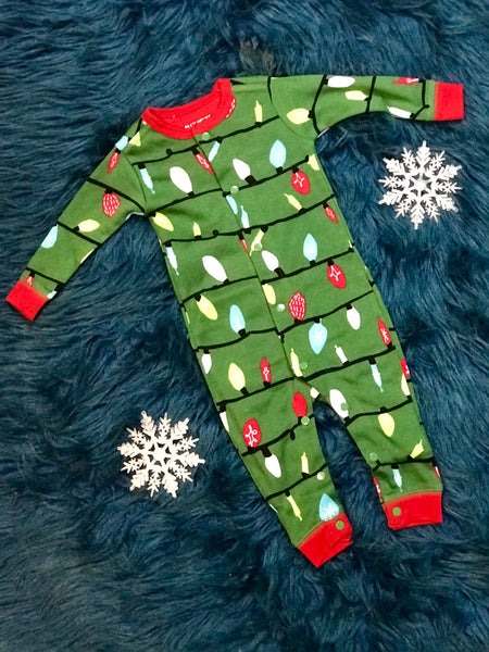 2018 Christmas PJs Little Blue House Green Northern Lights Coveralls -  JEN S KIDS BOUTIQUE 48f146fa3