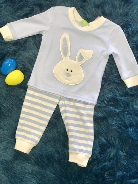 Be Mine Blue  Hunny Bunny Easter Pjs - JEN'S KIDS BOUTIQUE