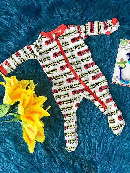 2019 Summer Kickee Pants Natural Indian Train Footie - JEN'S KIDS BOUTIQUE