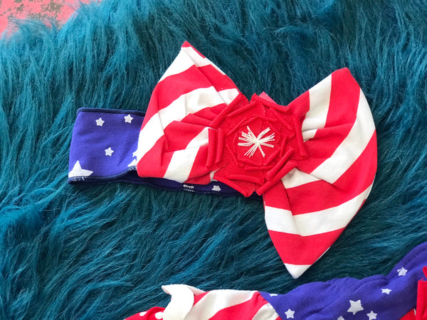 2019 Summer Sassy Me Stars & Striped Headband - JEN'S KIDS BOUTIQUE