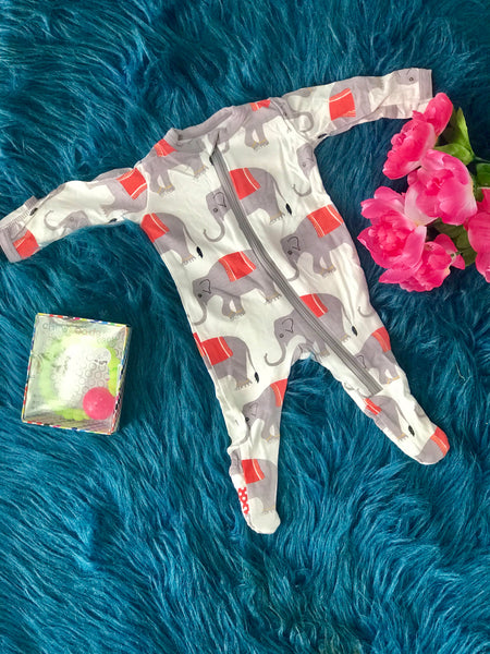 2019 Summer Kickee Pants Natural Indian Elephant Footie - JEN'S KIDS BOUTIQUE