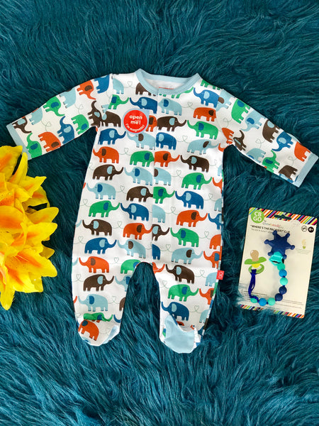 Magnetic Me Baby Sleep Wear Elephants On Parade - JEN'S KIDS BOUTIQUE