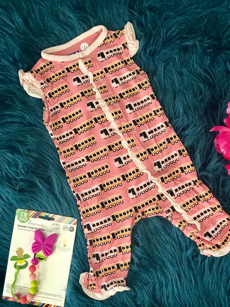 2019 Summer Kickee Pants Desert Rose Indian Train Ruffle Tank Romper - JEN'S KIDS BOUTIQUE