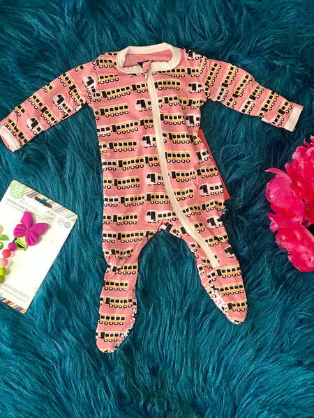 2019 Summer Kickee Pants Desert Rose Indian Train Footie - JEN'S KIDS BOUTIQUE