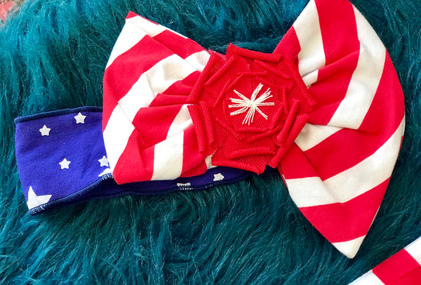 Summer Sassy Me Stars & Striped Headband - JEN'S KIDS BOUTIQUE