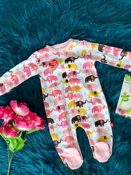 2019 Magnetic Me Baby Sleep Wear Elephants On Parade - JEN'S KIDS BOUTIQUE