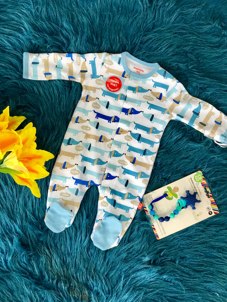 Magnetic Me Sleepwear Hello Hot Dog Blue Pup - JEN'S KIDS BOUTIQUE