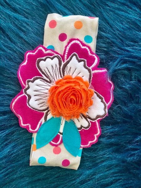 Summer Roki & Zoi By ZaZa Couture Flower Expo Infant Headband - JEN'S KIDS BOUTIQUE