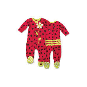 SoZo Ladybug Infant Footie - JEN'S KIDS BOUTIQUE