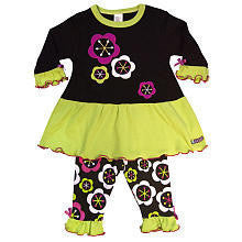 Sozo Baby Girls' Fall Flower Long Sleeve Dress and Leggings - JEN'S KIDS BOUTIQUE