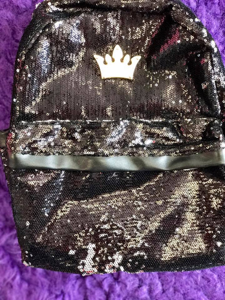 Princess sequin black backpack