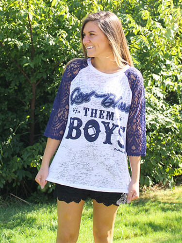 New Women's  Fall Southern Grace God Bless Them Boys Shirt - JEN'S KIDS BOUTIQUE