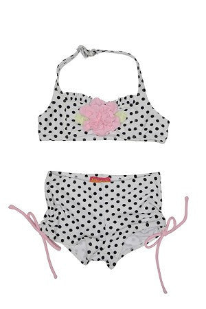 Kate Mack Polka Dot Rose Princess Two Piece Swimsuit - JEN'S KIDS BOUTIQUE