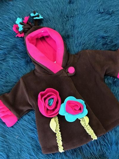 Corky Coats Brown/Flower Heavy Lined Coat - JEN'S KIDS BOUTIQUE