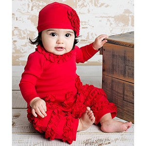 Lemon Loves Layette Red Peony Romper - JEN'S KIDS BOUTIQUE